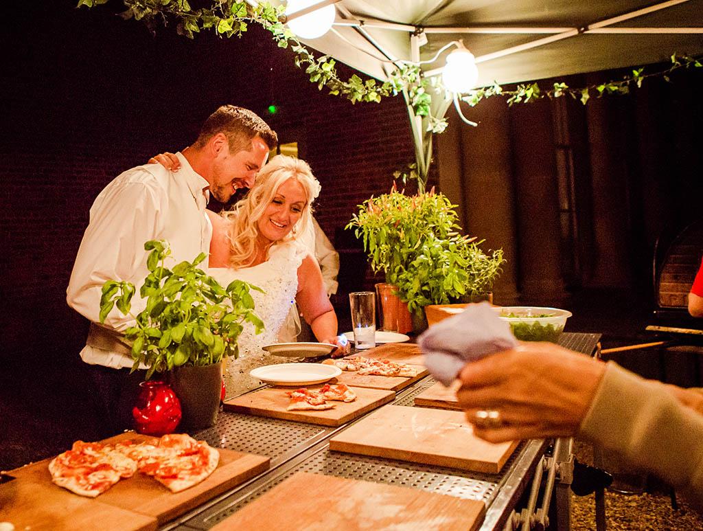 Mobile pizza oven wedding